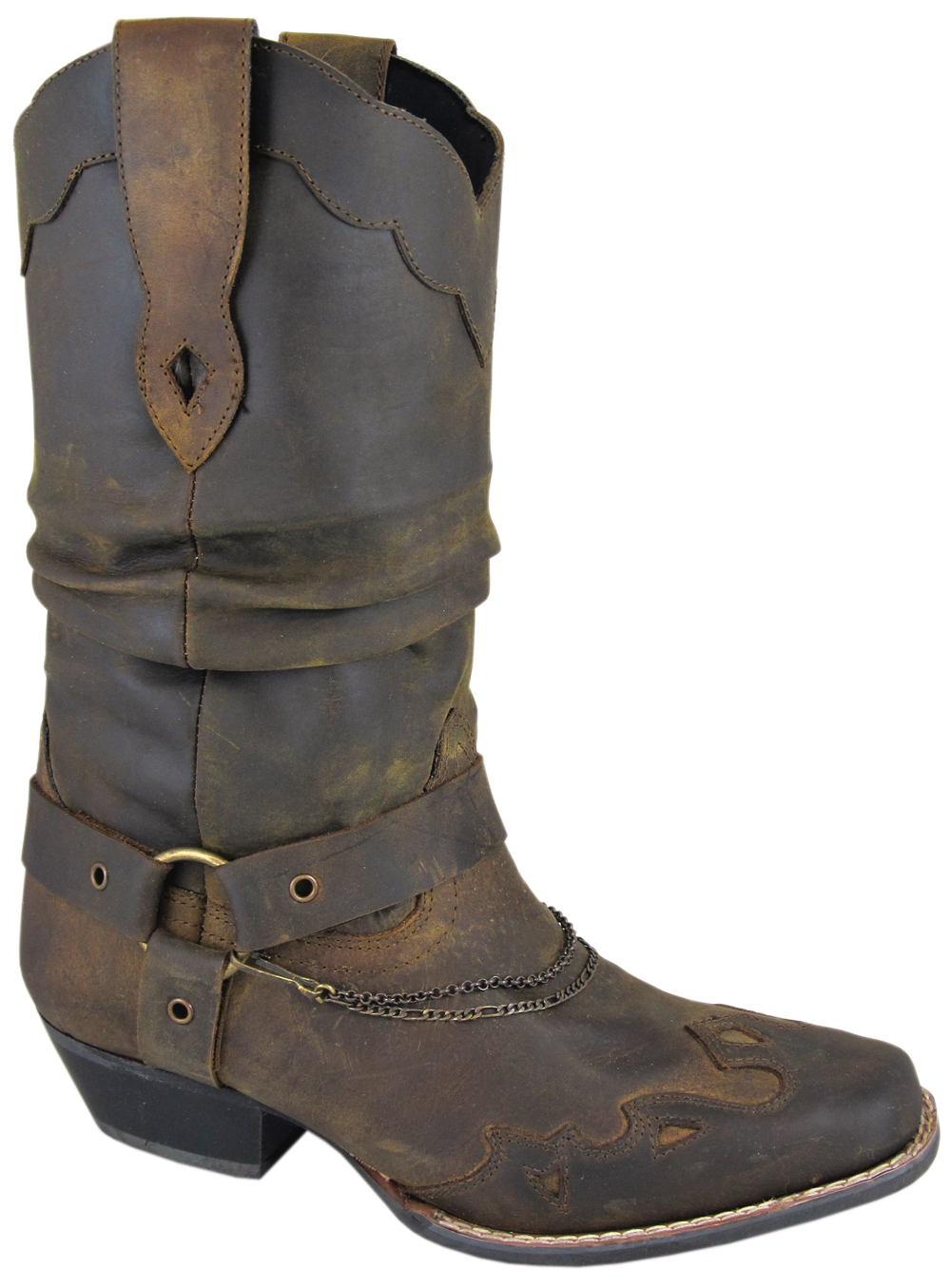 Smoky Mountain Women's Avalon Leather Western Slouch Boot