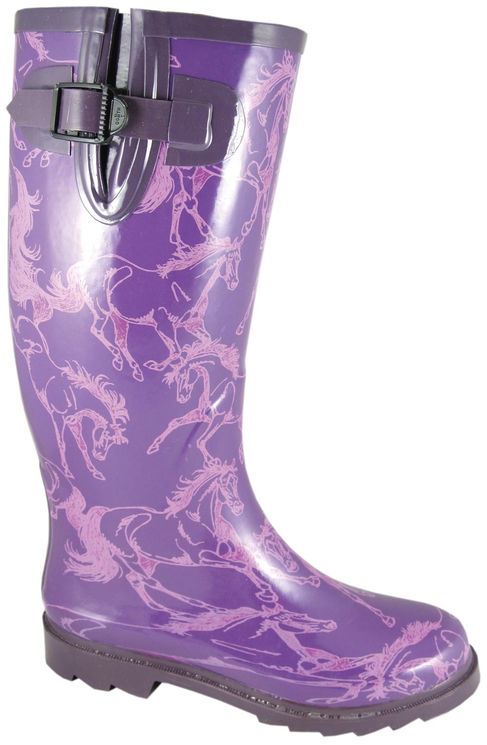 Smoky Mountain Women's Dancing Horses Waterproof Boots
