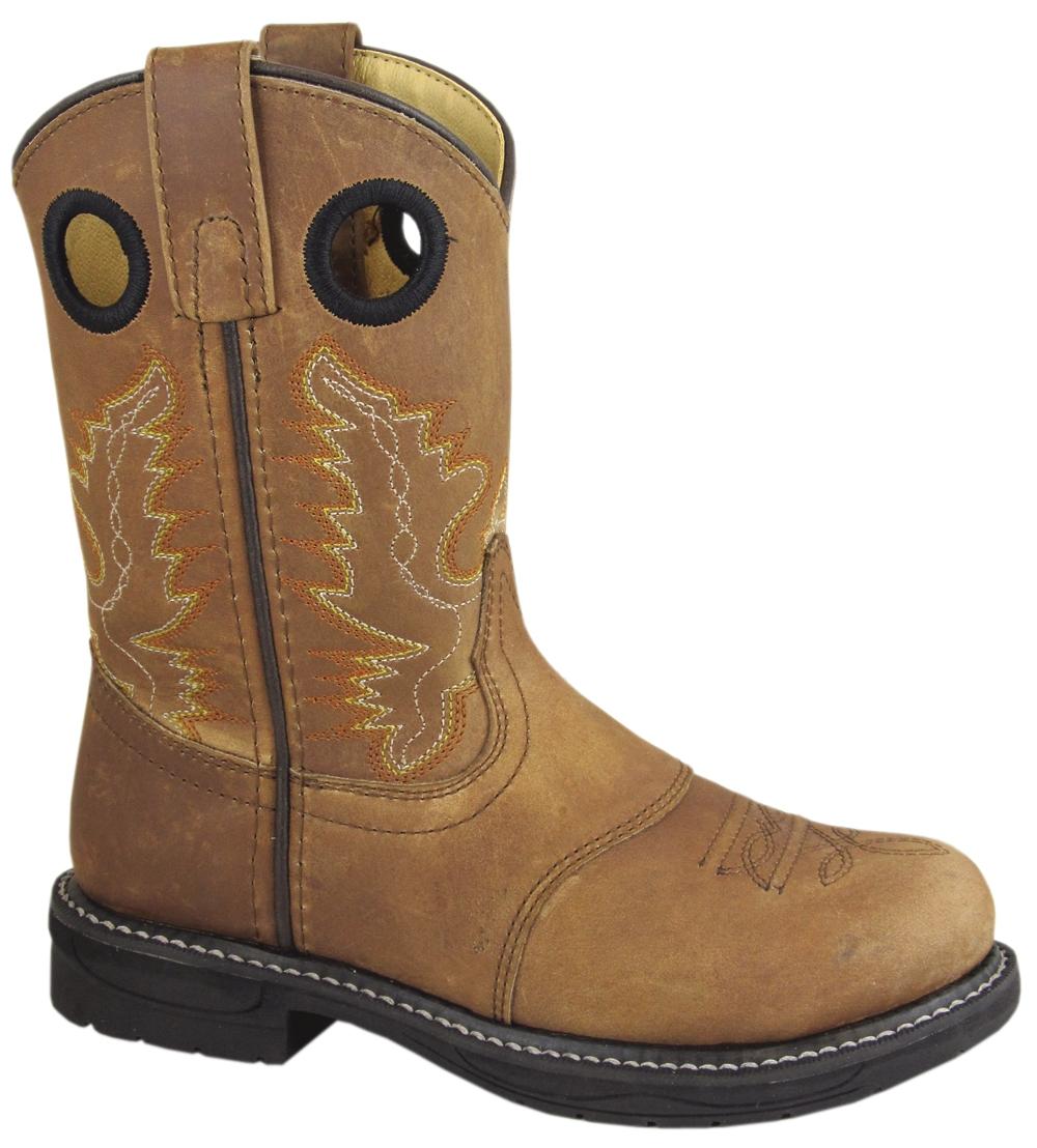 Smoky Mountain Youth Buffalo Leather Wellington Boot