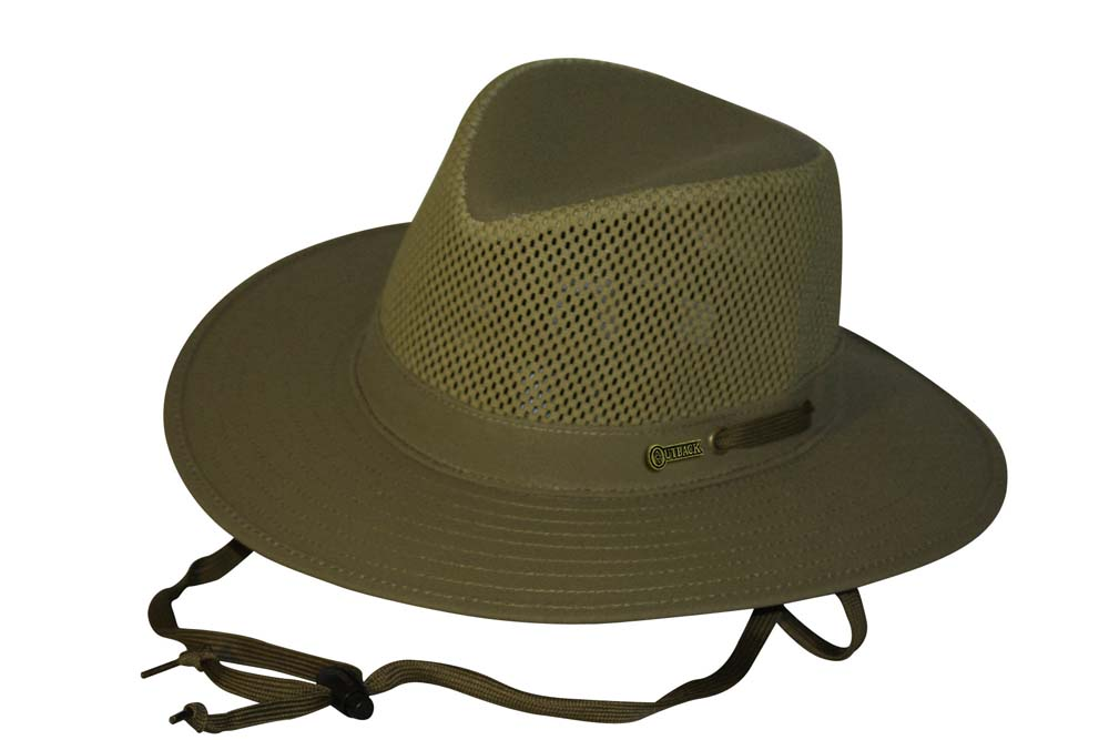 Outback Oilskin Canvas Mesh River Guide Hat