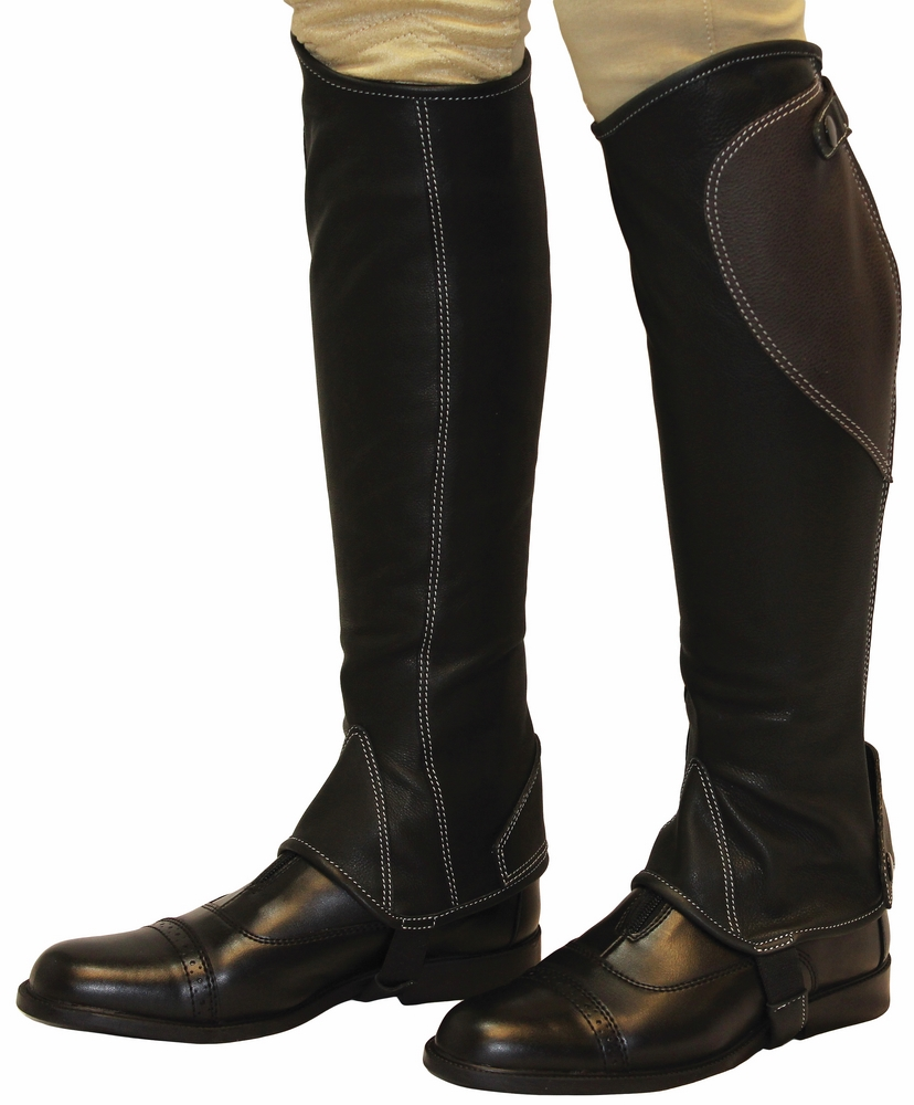 TuffRider Natasha Leather Half Chaps Adult