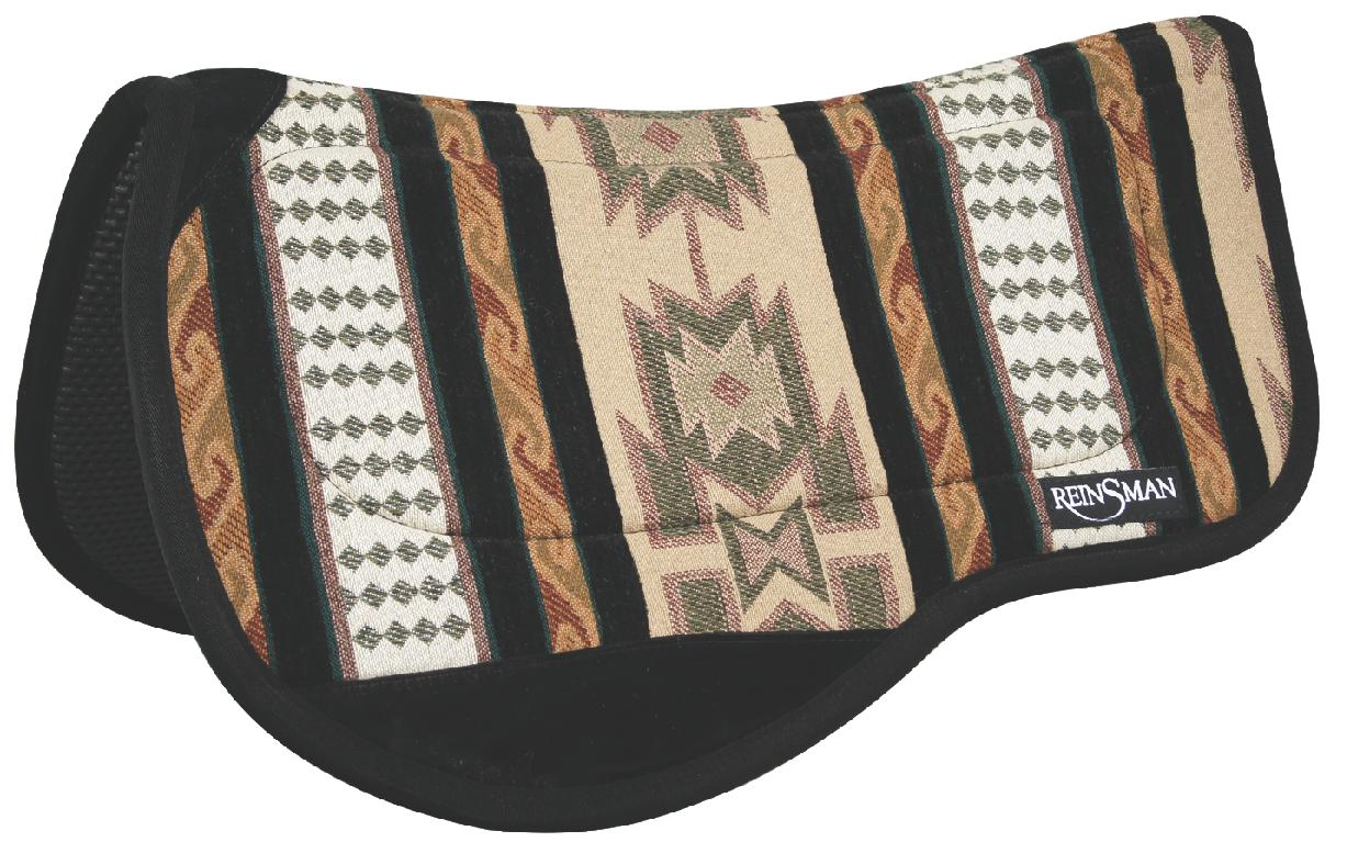 REINSMAN Contoured Trail Herculon Pad - Tacky Too - Dakota Plum Print