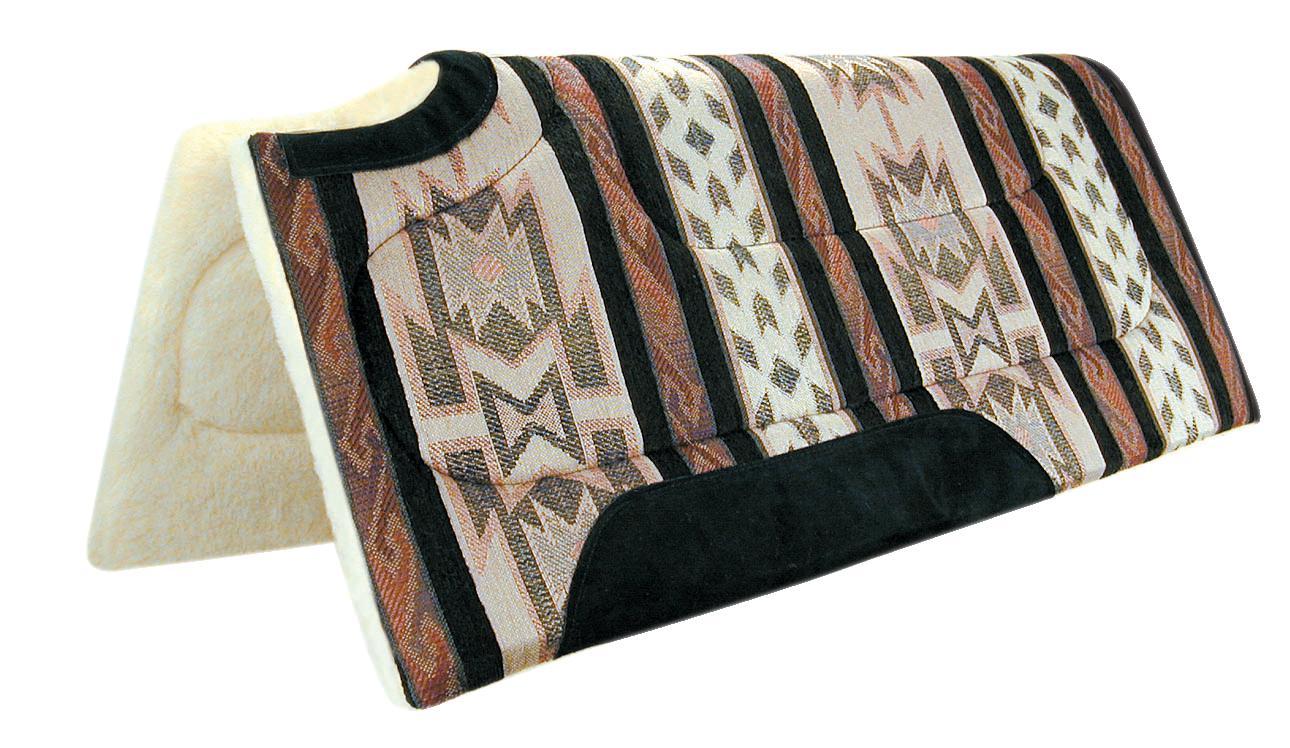 REINSMAN Square Cutback Fleece Herculon Pad - Running Bull Onyx Print