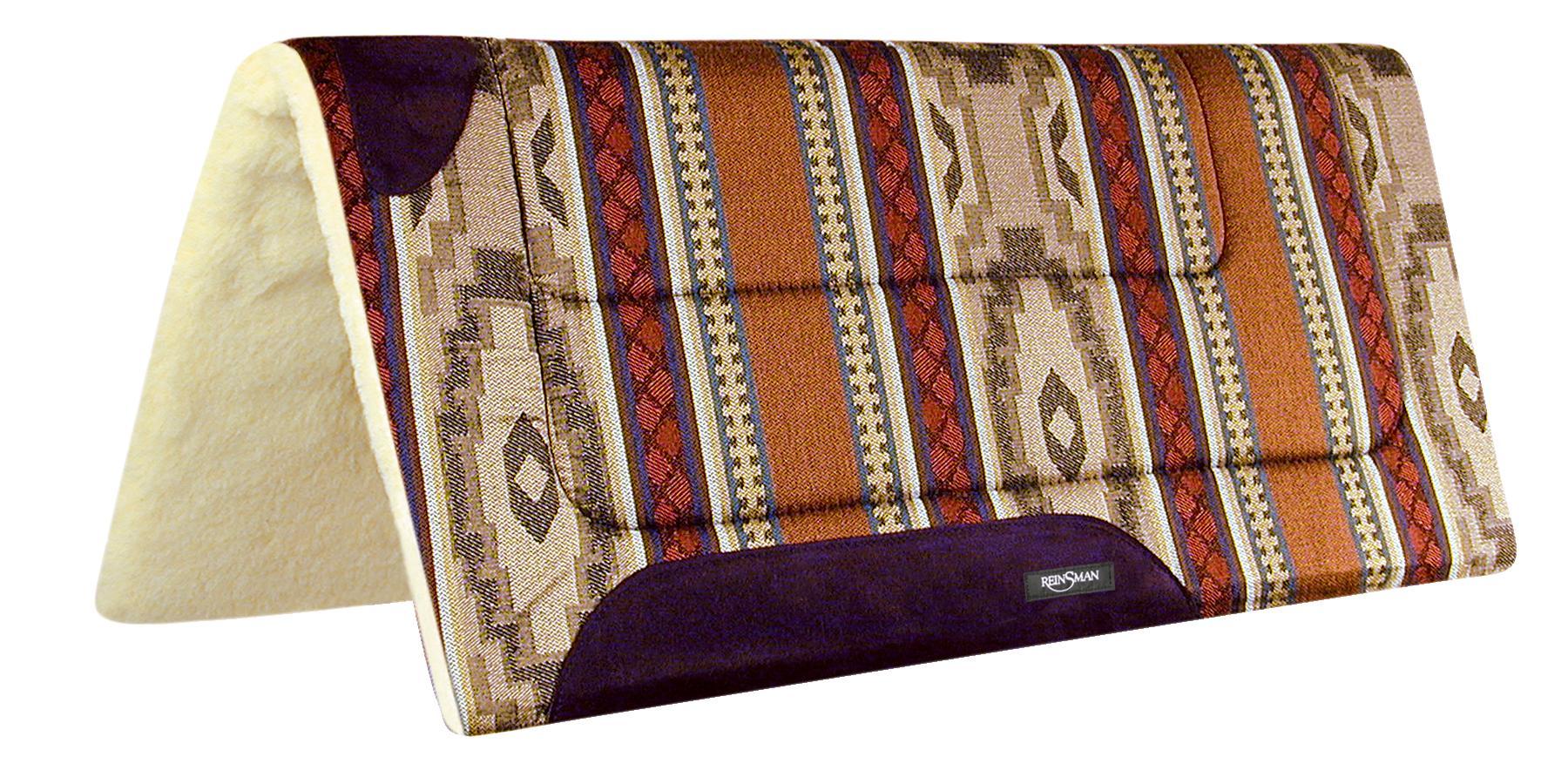 REINSMAN Square Herculon Pad - Fleece - Corral Beige Print