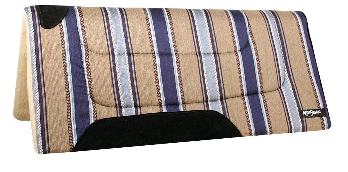 REINSMAN Square Herculon Pad - Fleece - Laredo Denim Print