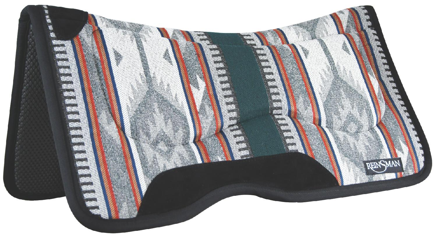 REINSMAN M2 Lite Contour Herculon Pad - Tacky Too - Lodge Trail Beige Print