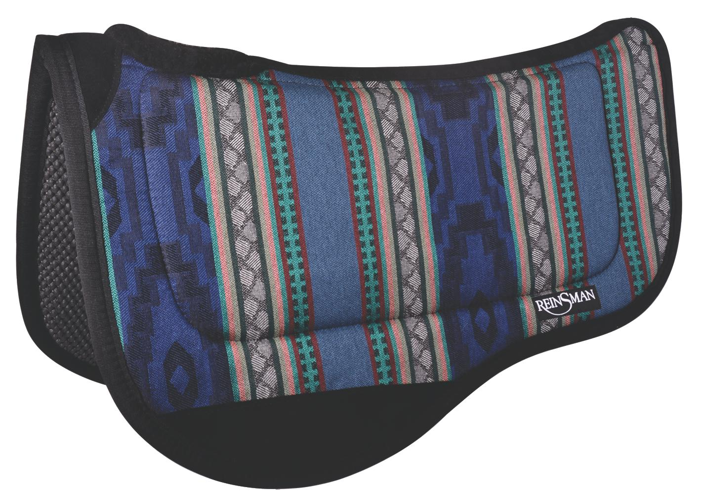 REINSMAN Comfort Flex Fleece Trail Herculon Pad - Tacky Too - Running Bull Onyx Print