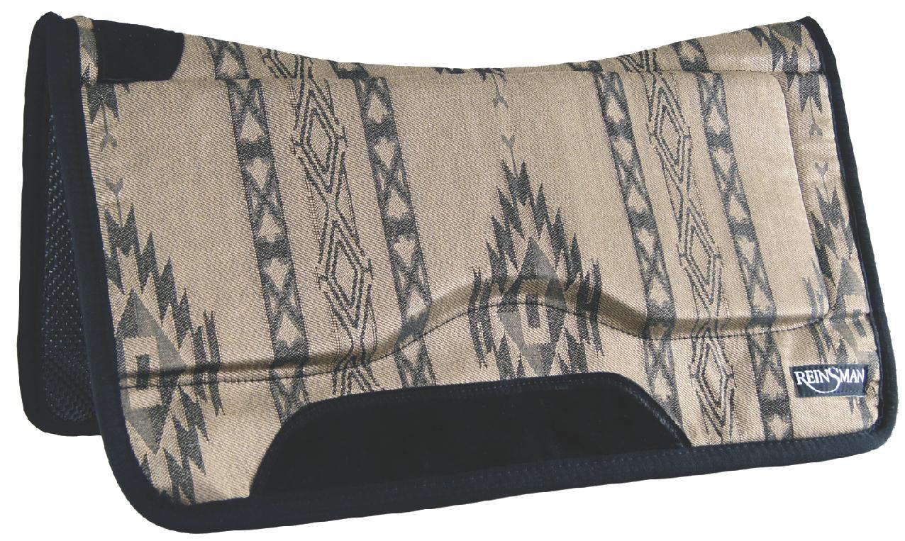REINSMAN Contour Swayback Herculon Pad - Tacky Too - Dakota Plum Print