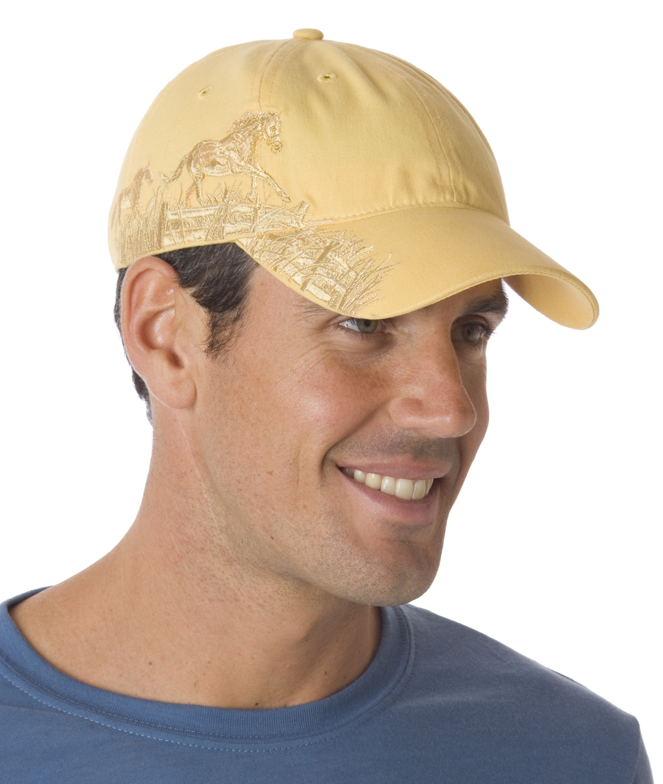 Embrodiered Galloping Horses Cap