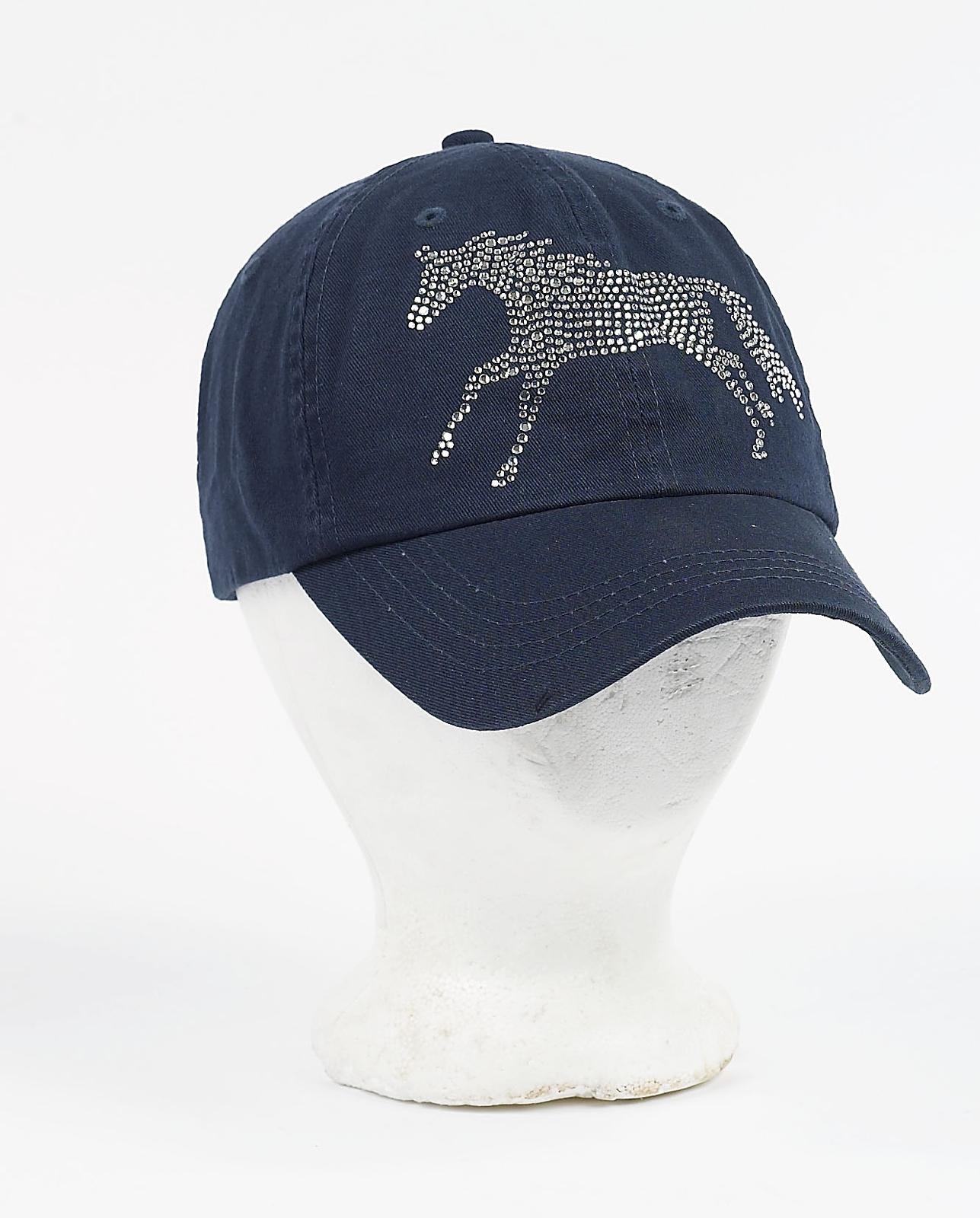 Rhinestone Galloping Horse Cap