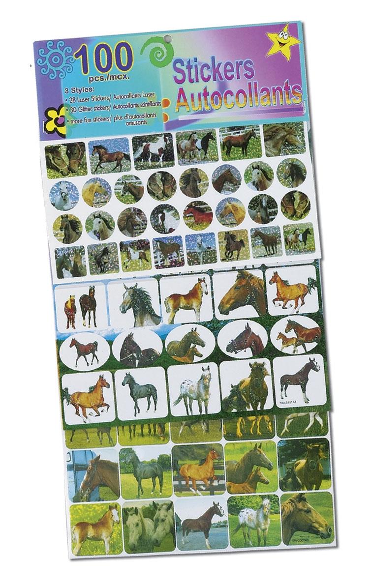100 Glitter Horsey Stickers