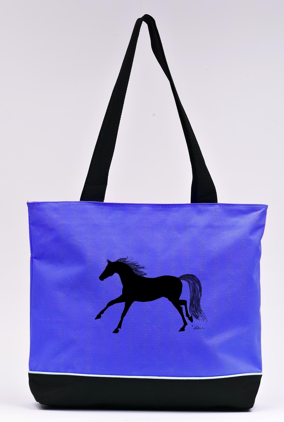 Lila Blakeslee Running Horse Print Tote Bag