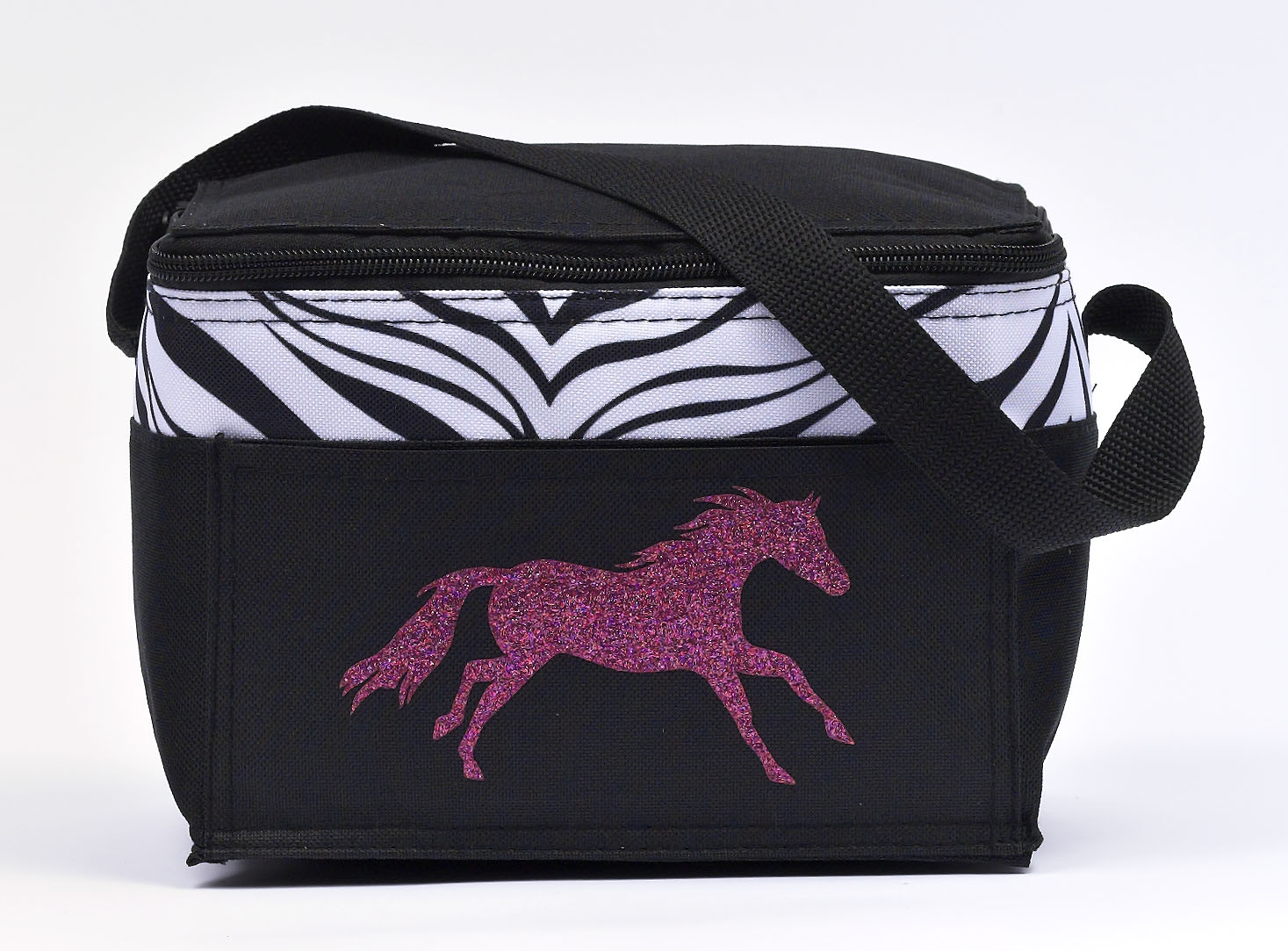 Running Horse Print Insulated Lunch Tote