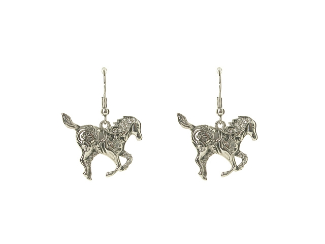 Filigree Horseshoe French Hook Earrings