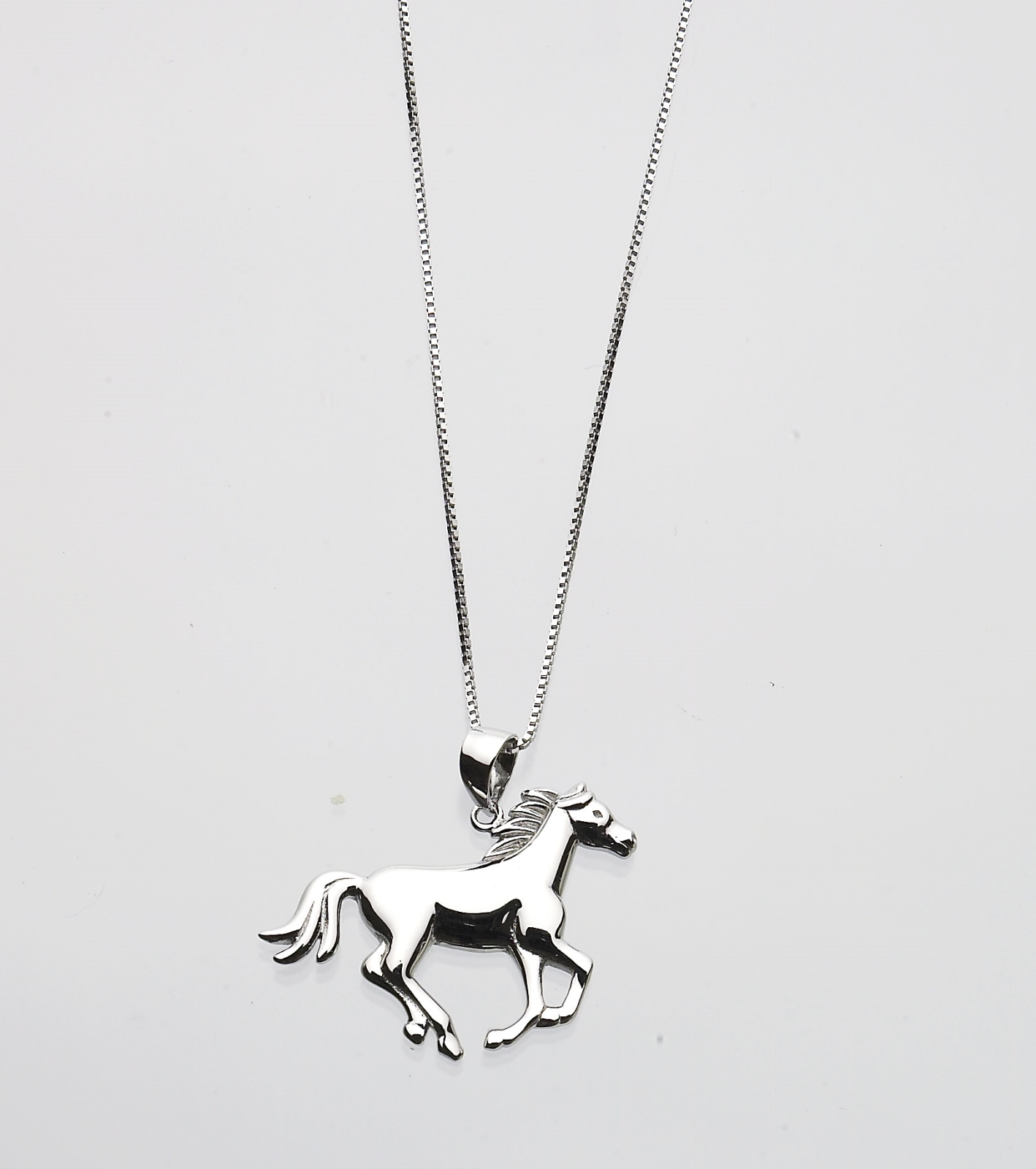 Shiny Running Horse Necklace