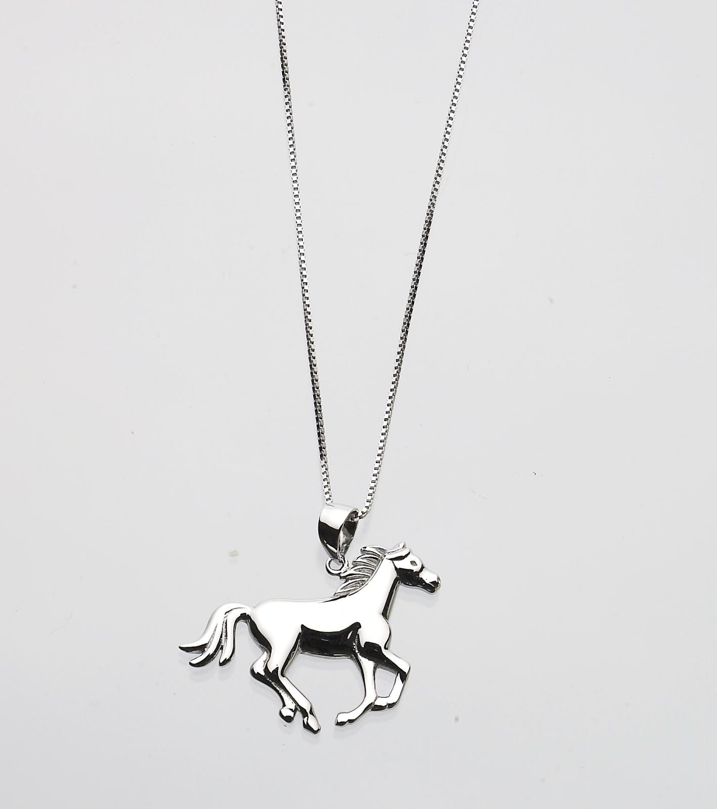 Shiny Running Horse Necklace
