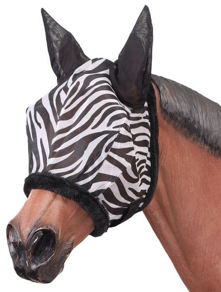 Tough-1 Zebra Mesh Fly Mask