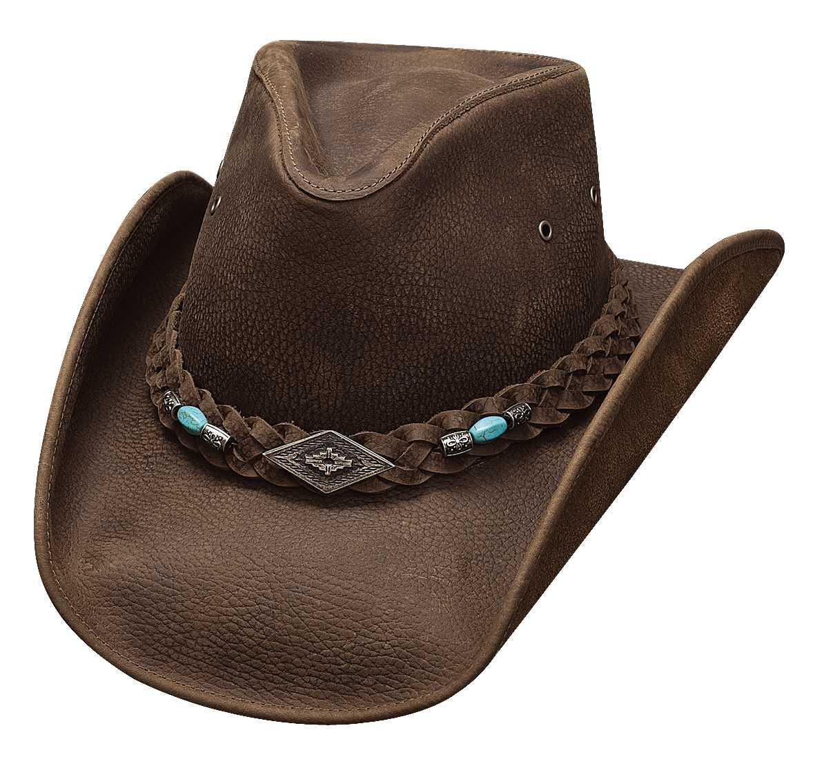 Bullhide Royston Down Under Leather Hat