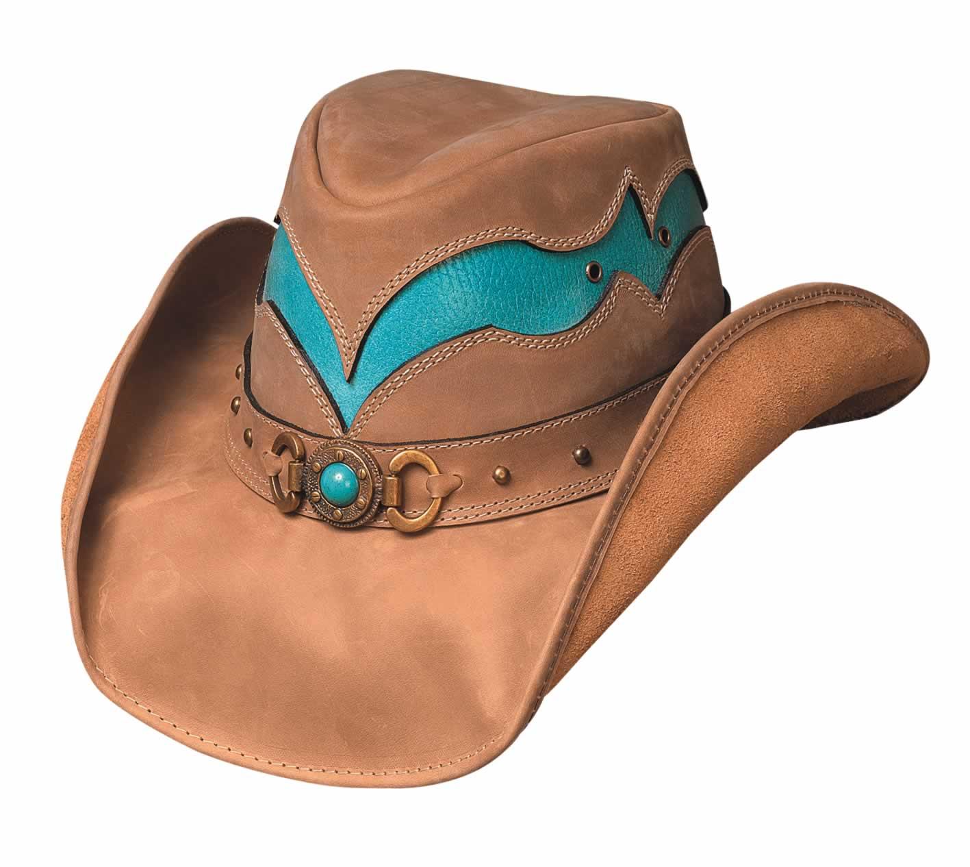 Bullhide Cascade Range Down Under Leather Hat