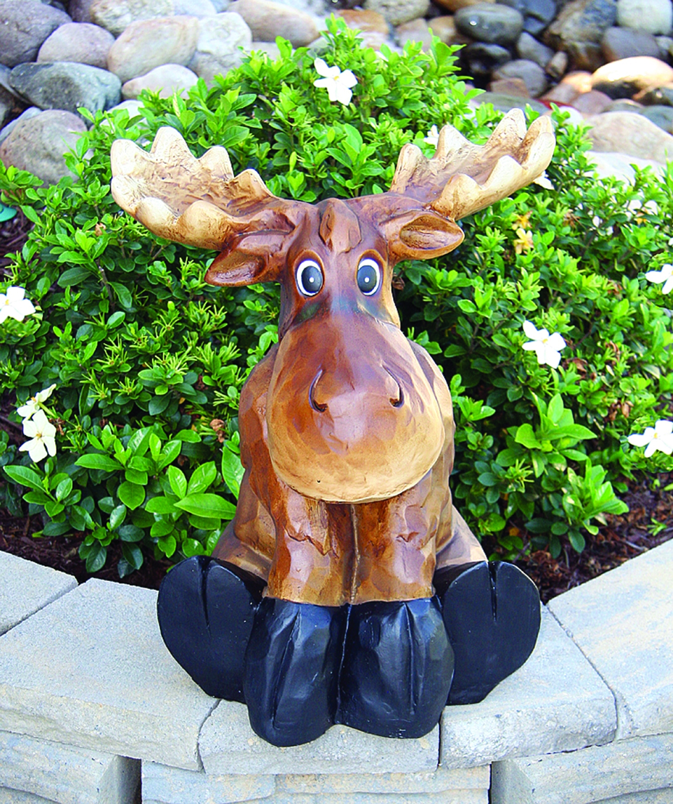 Sitting Moose Statuary