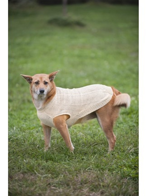 Outdoor Dog Donegal Cable Knit Dog Sweater