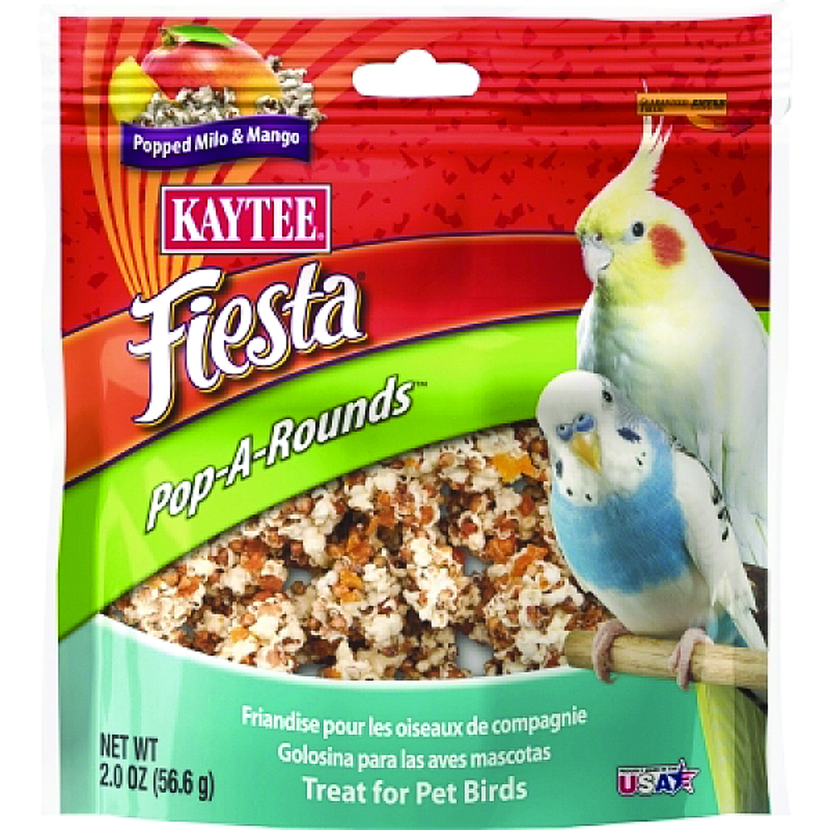 Kaytee Fiesta Pop-A-Rounds Treat - Pet Birds