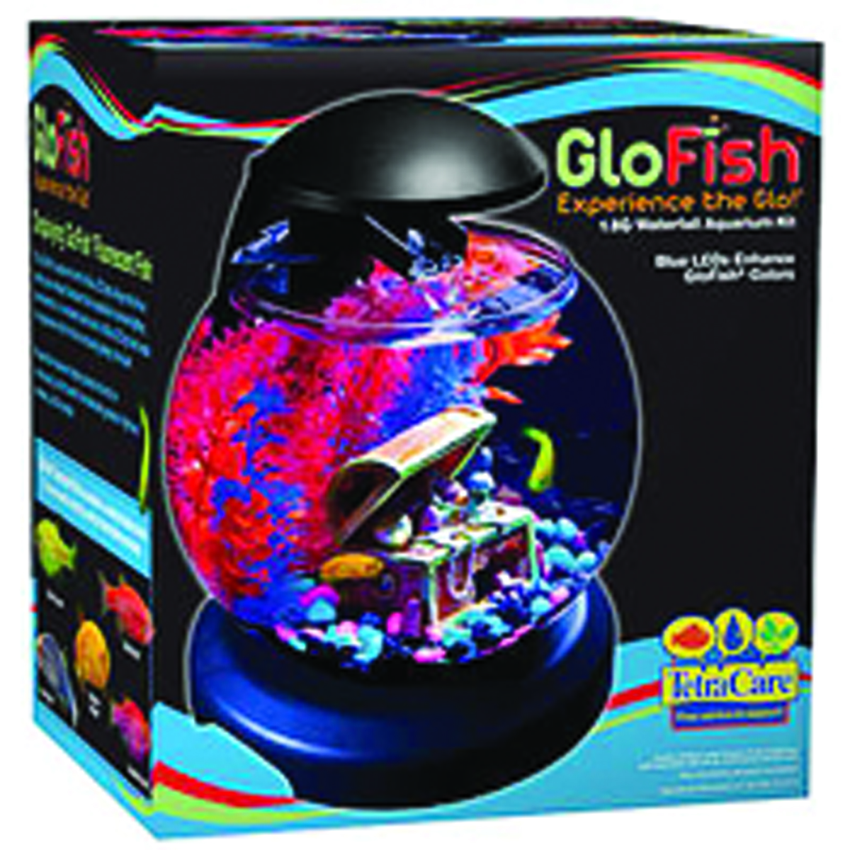 Tetra Glofish Waterfall Globe Aquarium Kit