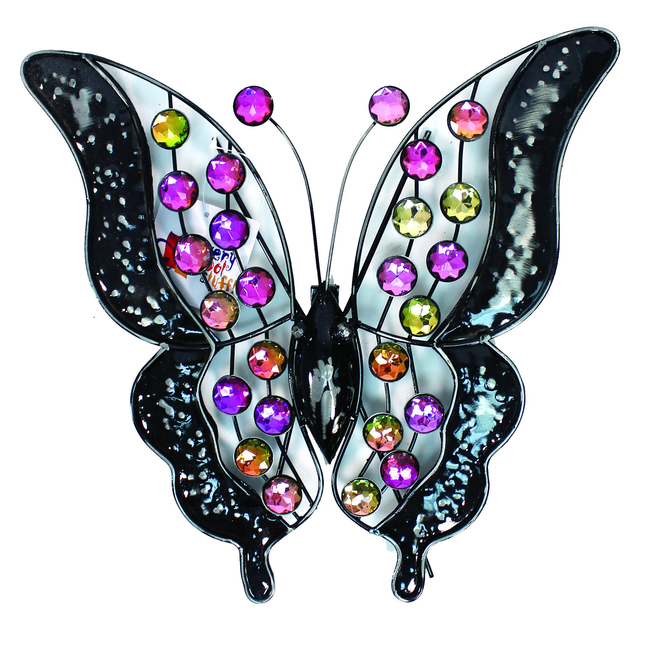 Rainbow Bling Butterfly Wall Art