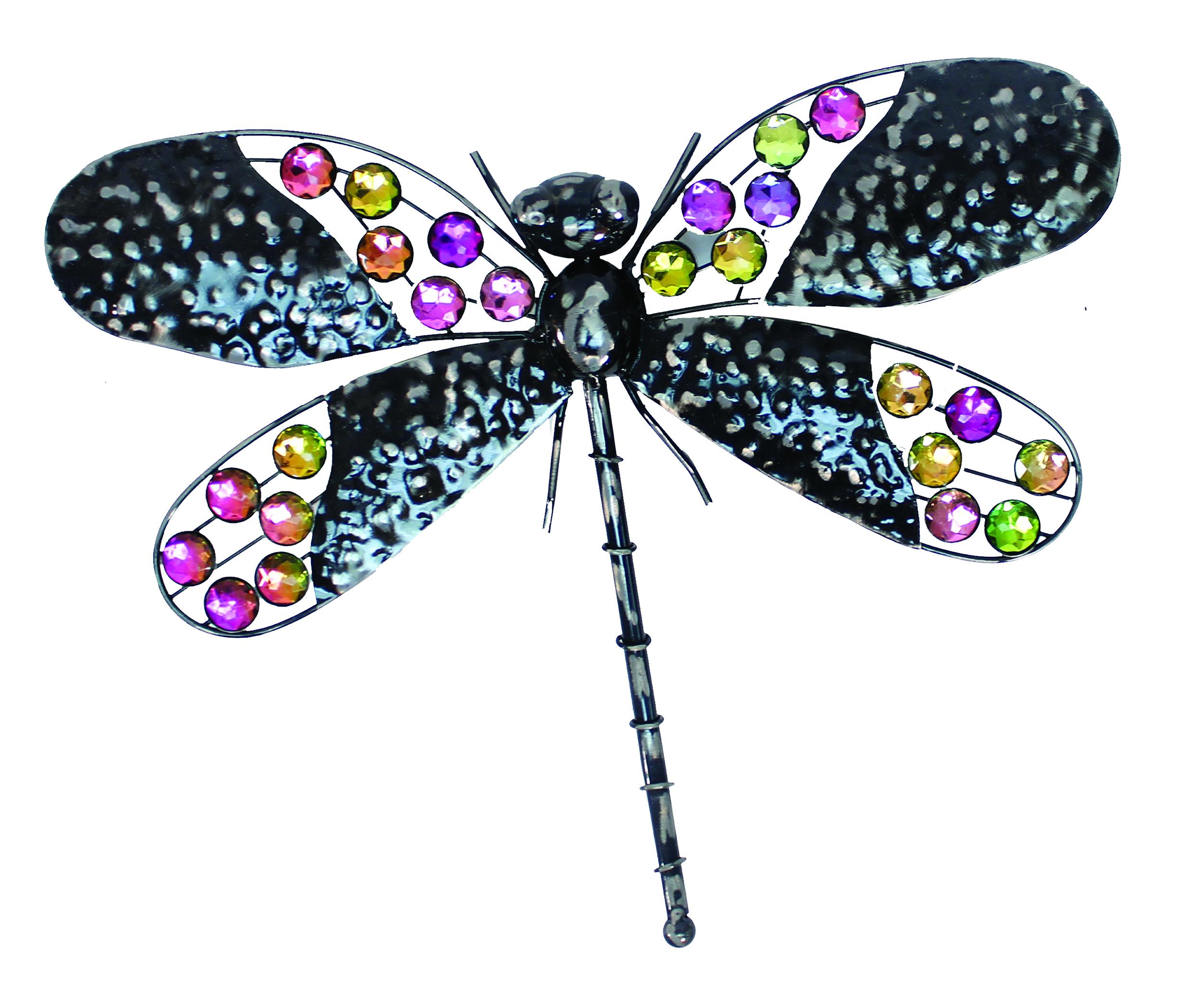 Rainbow Bling Dragonfly Wall Art