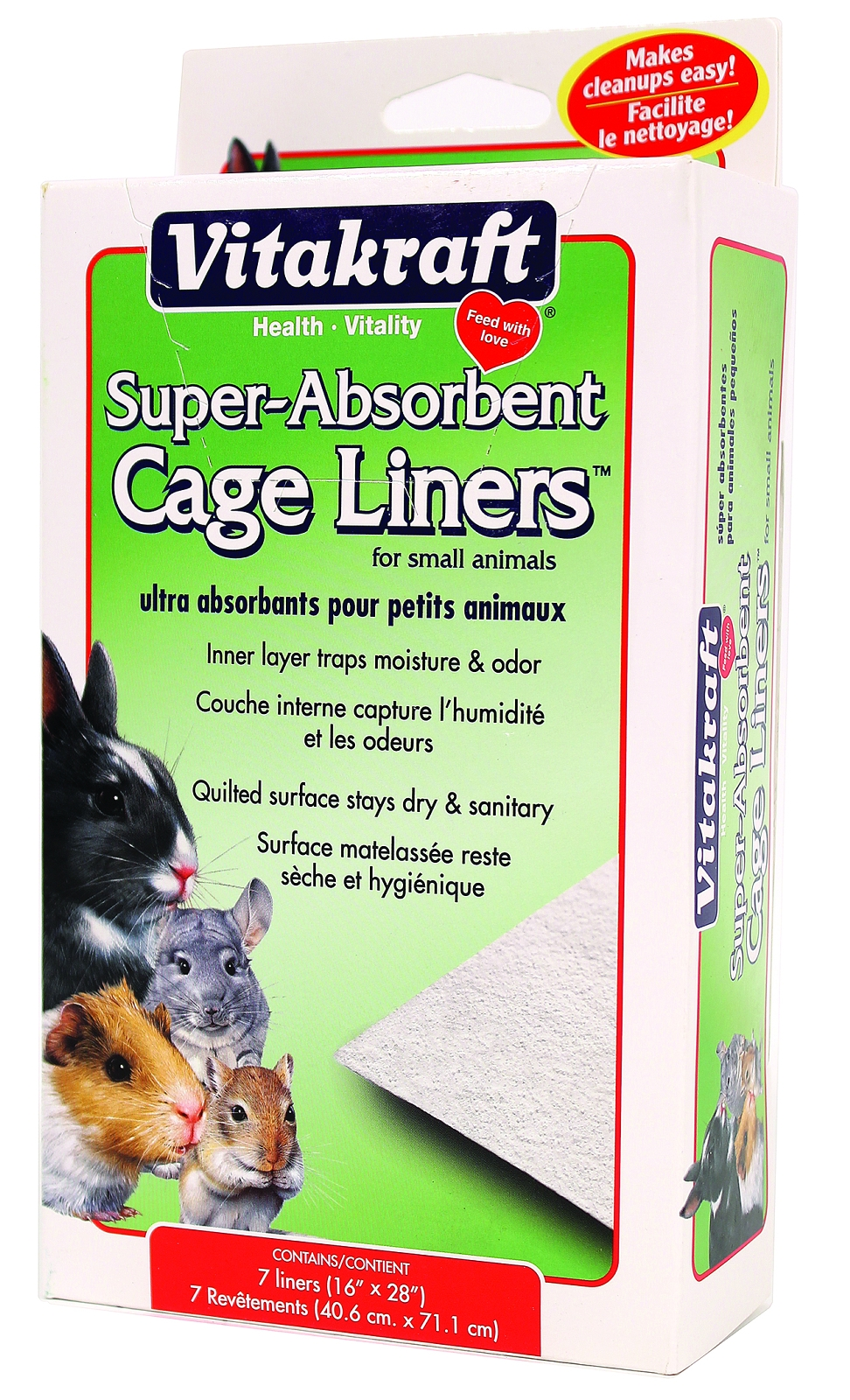 Vitakraft Super Absorbent Cage Liners For Small Animals