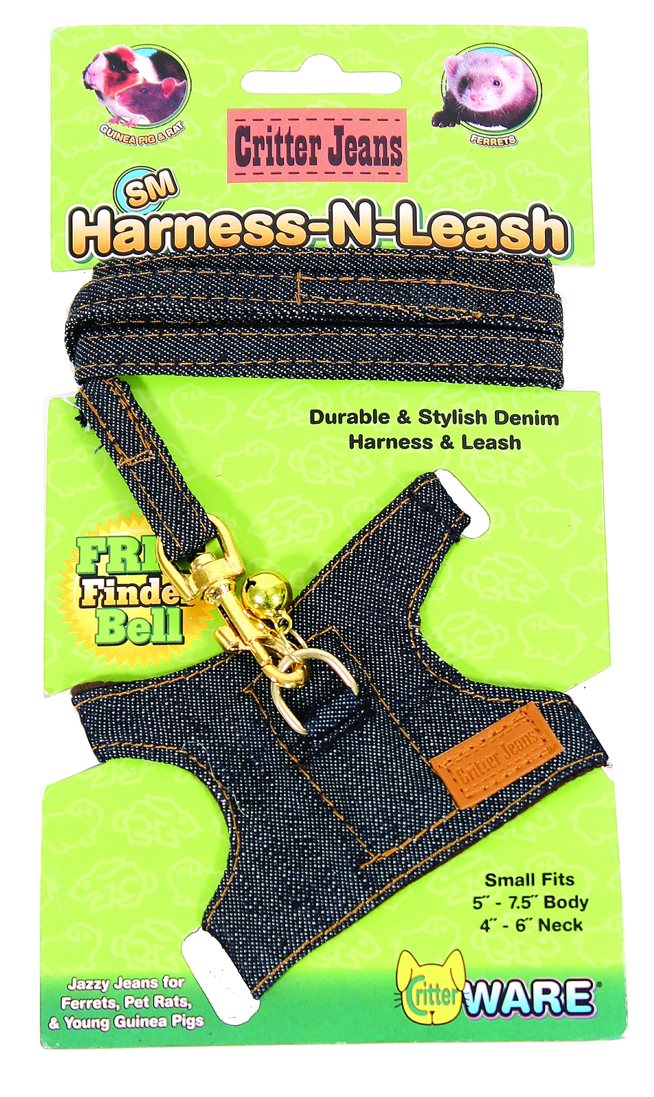 Ware Critter Jeans Small Aniaml Harness-N-Leash