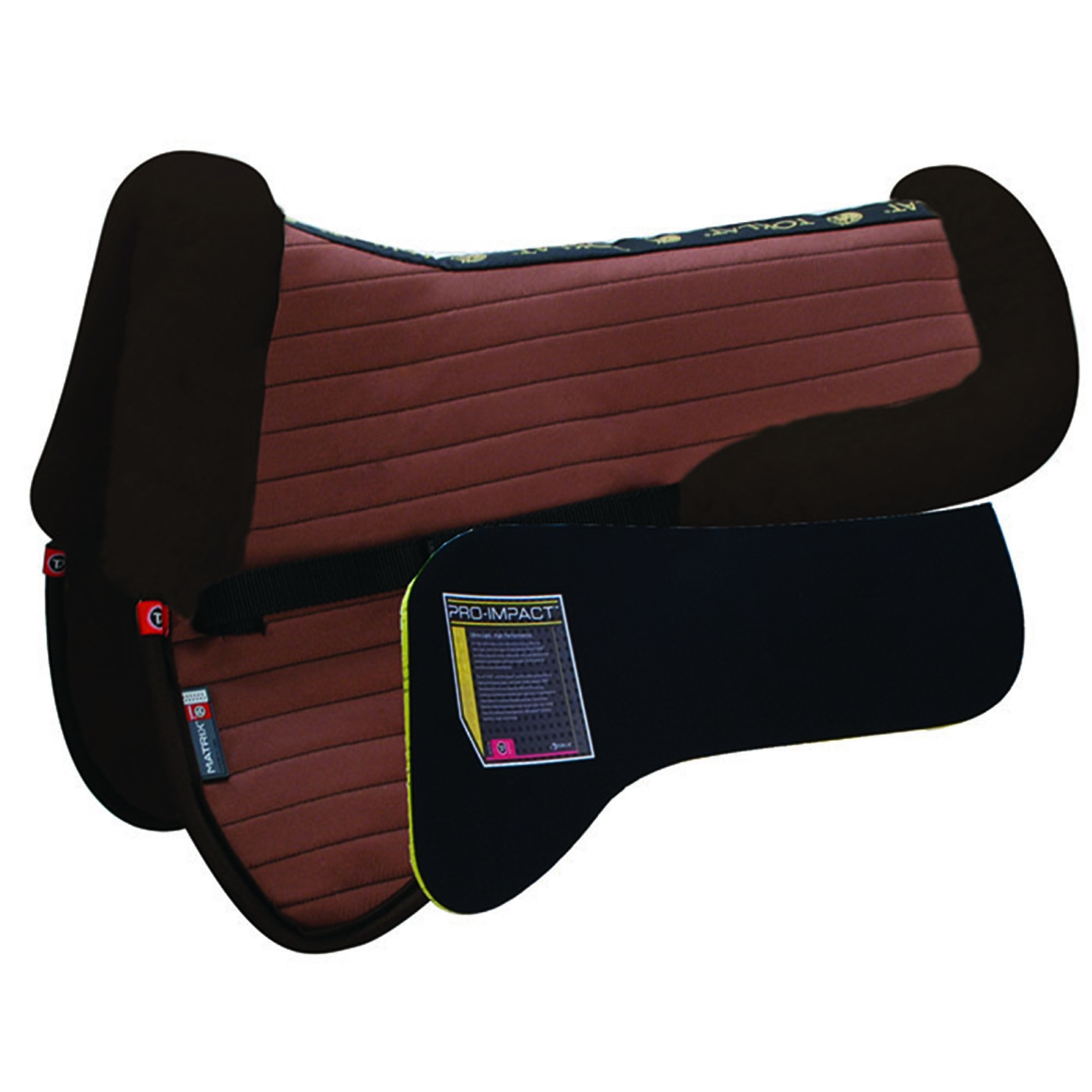 Matrix T3 Ergonomic CoolBack Half Pad with Pro-Impact Inserts