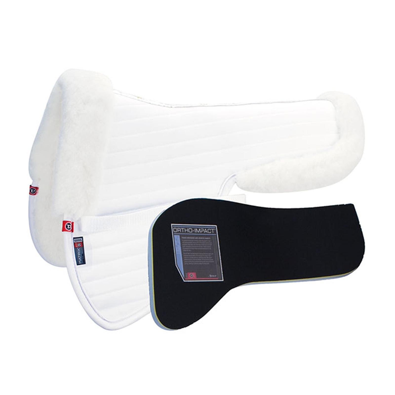 Matrix T3 Ergonomic CoolBack Half Pad with Ortho-Impact Inserts