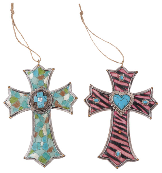 Gift Corral Cross Ornament