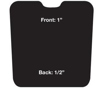 CASHEL Western Reverse Wedge Cushion Pad
