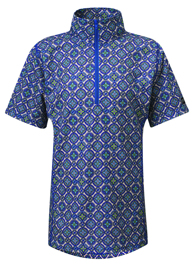 Kerrits Kids Venti Short Sleeve Shirt - Pinwheel