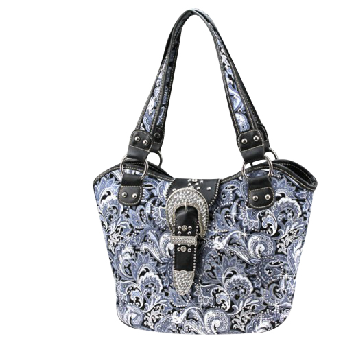 Montana West Buckle Collection Floral Handbag