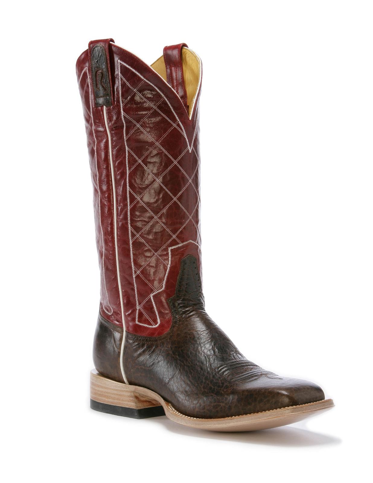 Rod Patrick Antique Bison Mocha Square Toe Boots RPM106
