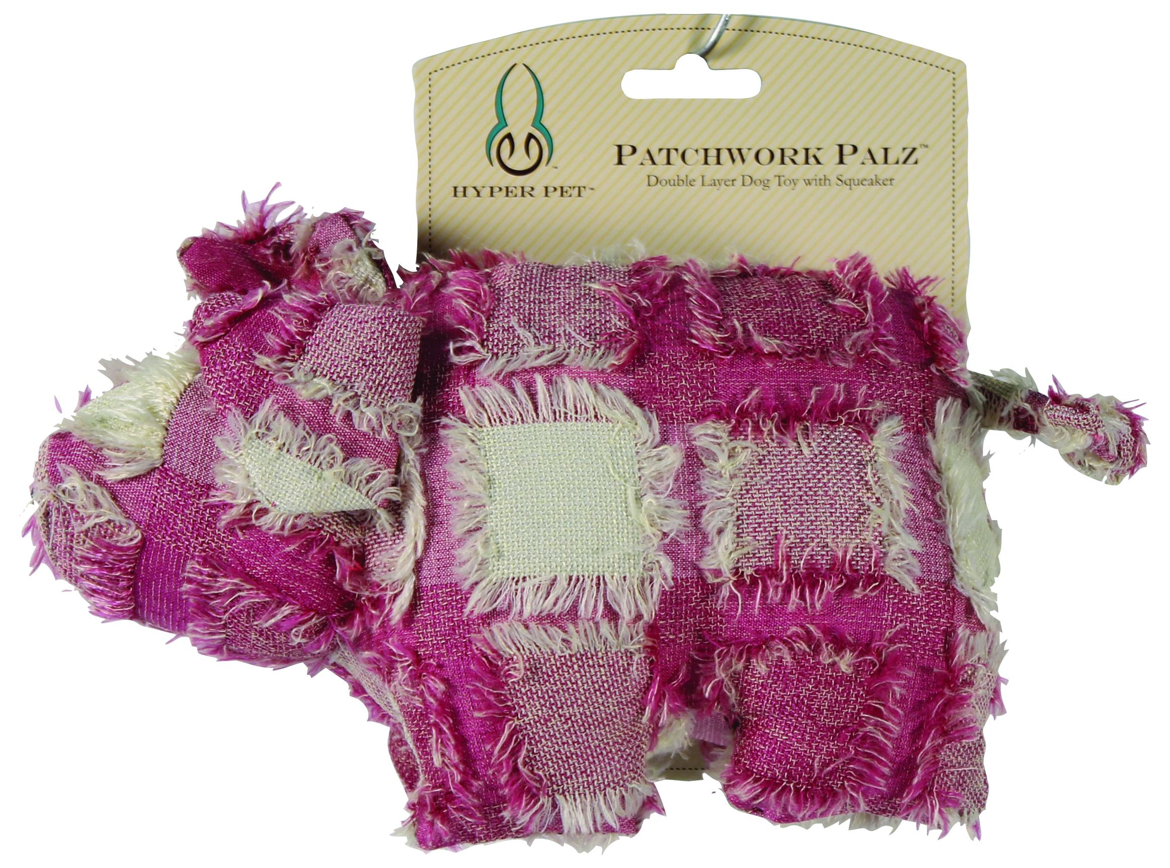Hyper Pet Patchwork Palz Pig with Squeaker