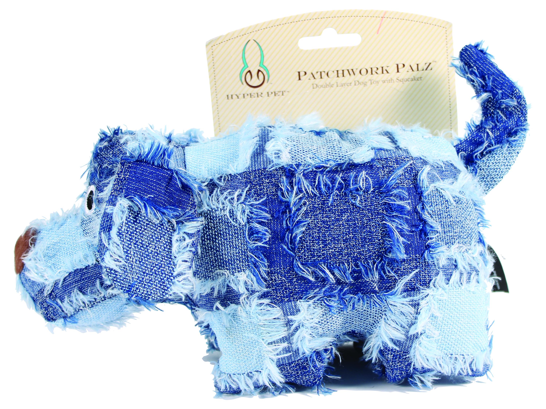 Hyper Pet Patchwork Palz Puppy with Squeaker