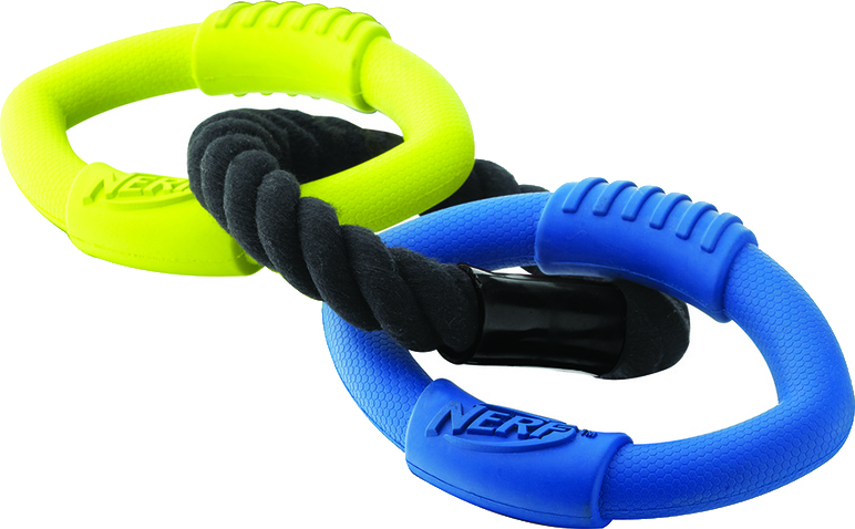 Nerf Triple Ring Rubber Rope Tug Toy
