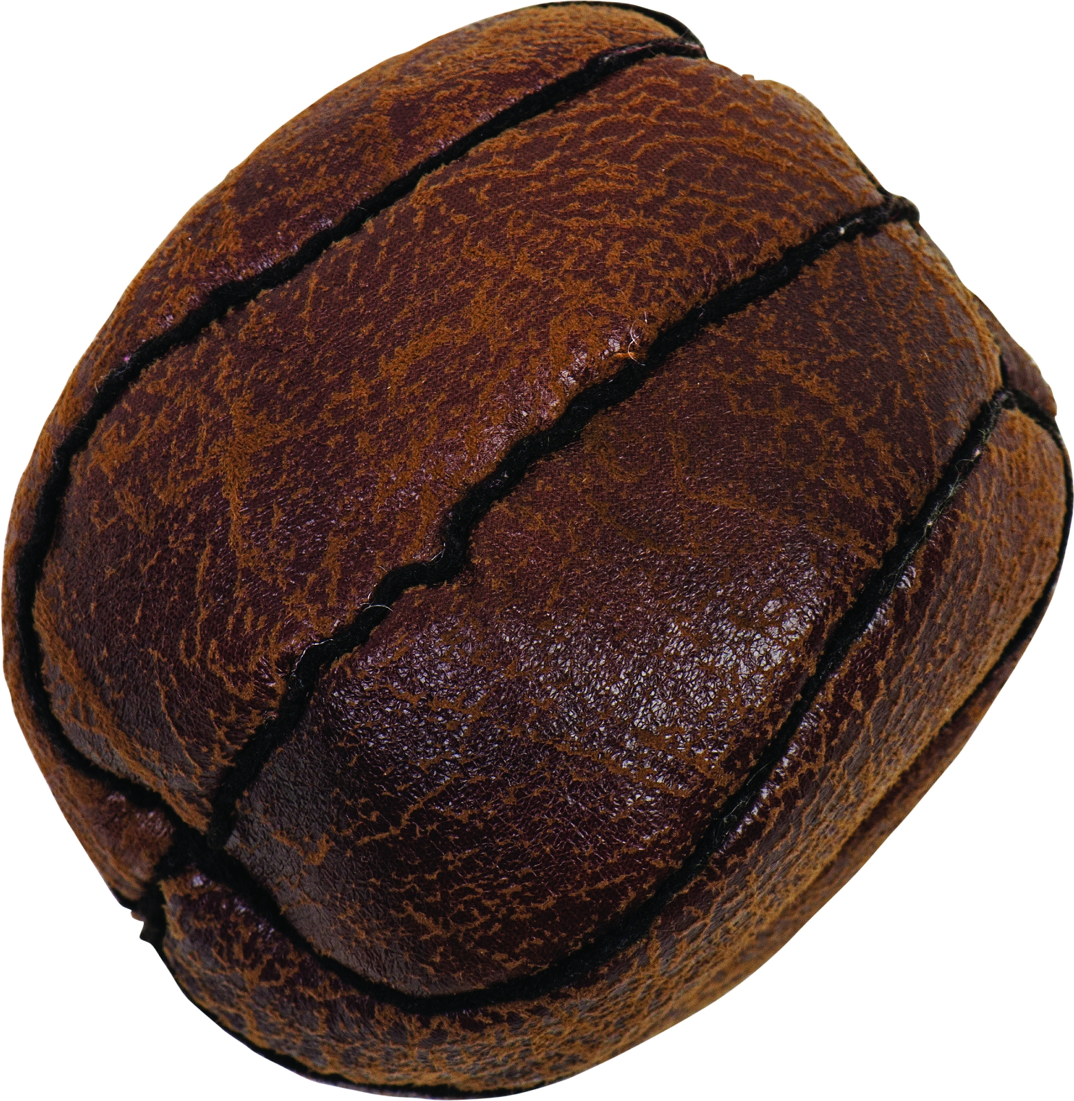 Old Flat Basketball Dog Toy with Squeakers
