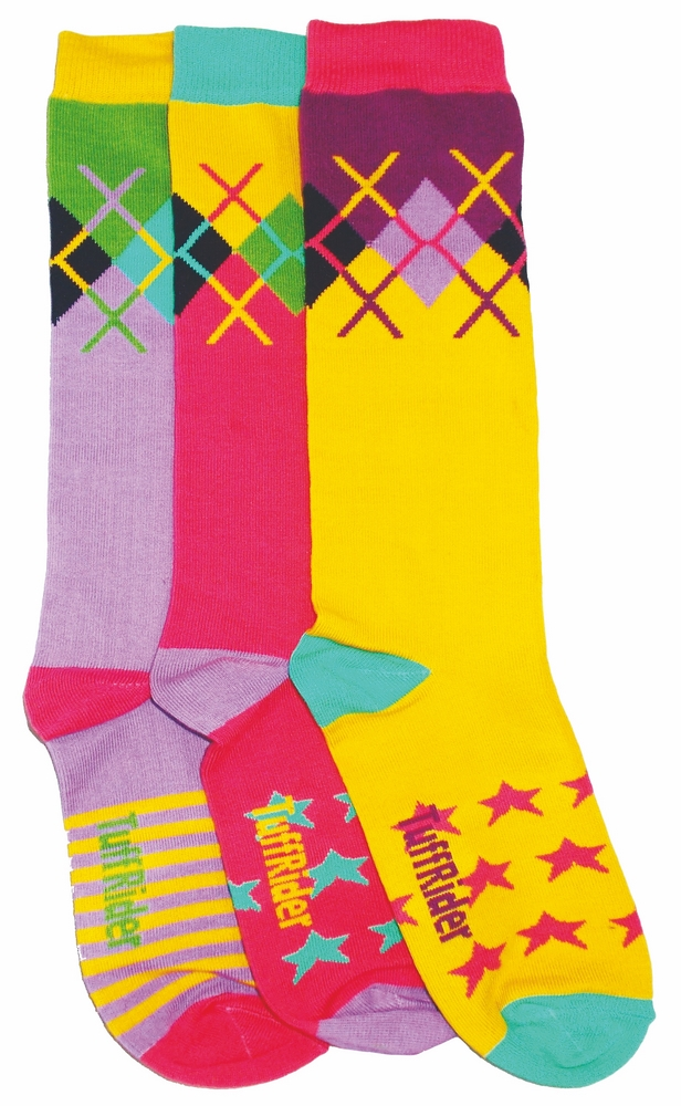 Tuffrider Rock Star 3 Pack Socks - Child's