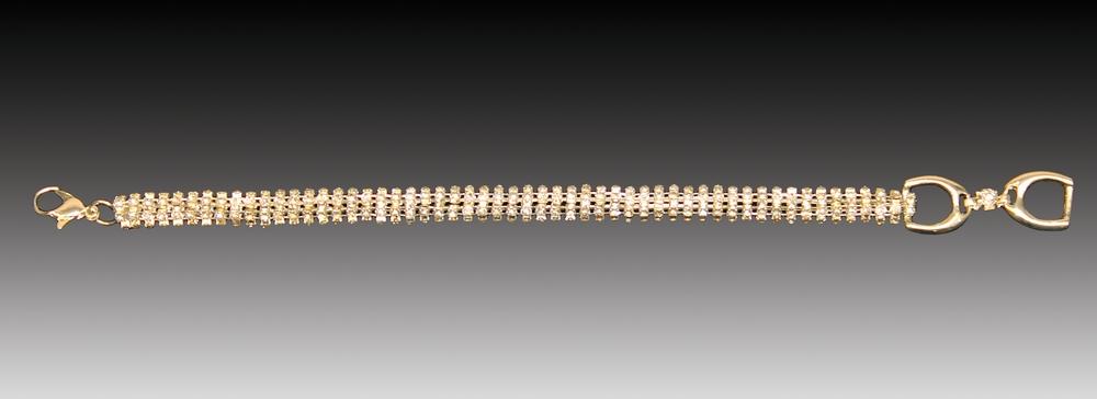 Equine Couture Single Round Diamond Bracelet