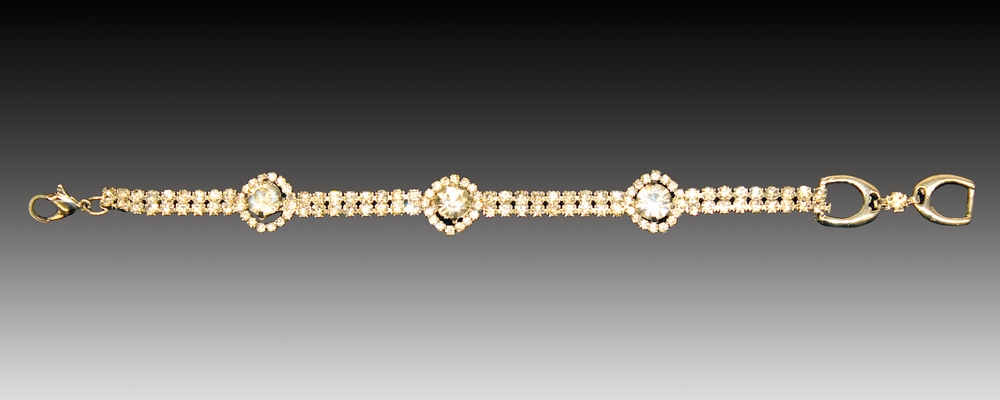 Equine Couture Fancy Large Stone Diamond Bracelet