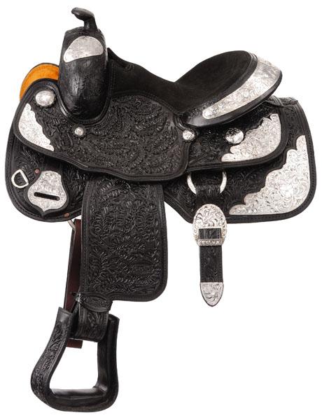 Silver Royal Premium Royal Oak Silver Show Saddle Package - Oak Leaf Tooling
