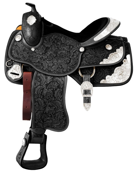 Silver Royal Premium Grandview Silver Show Saddle Package - Small Floral Tooling