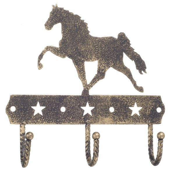 Gift Corral 3 Hook Rack - Walking Horse