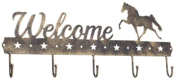 Gift Corral Welcome Sign Hook - Walking Horse