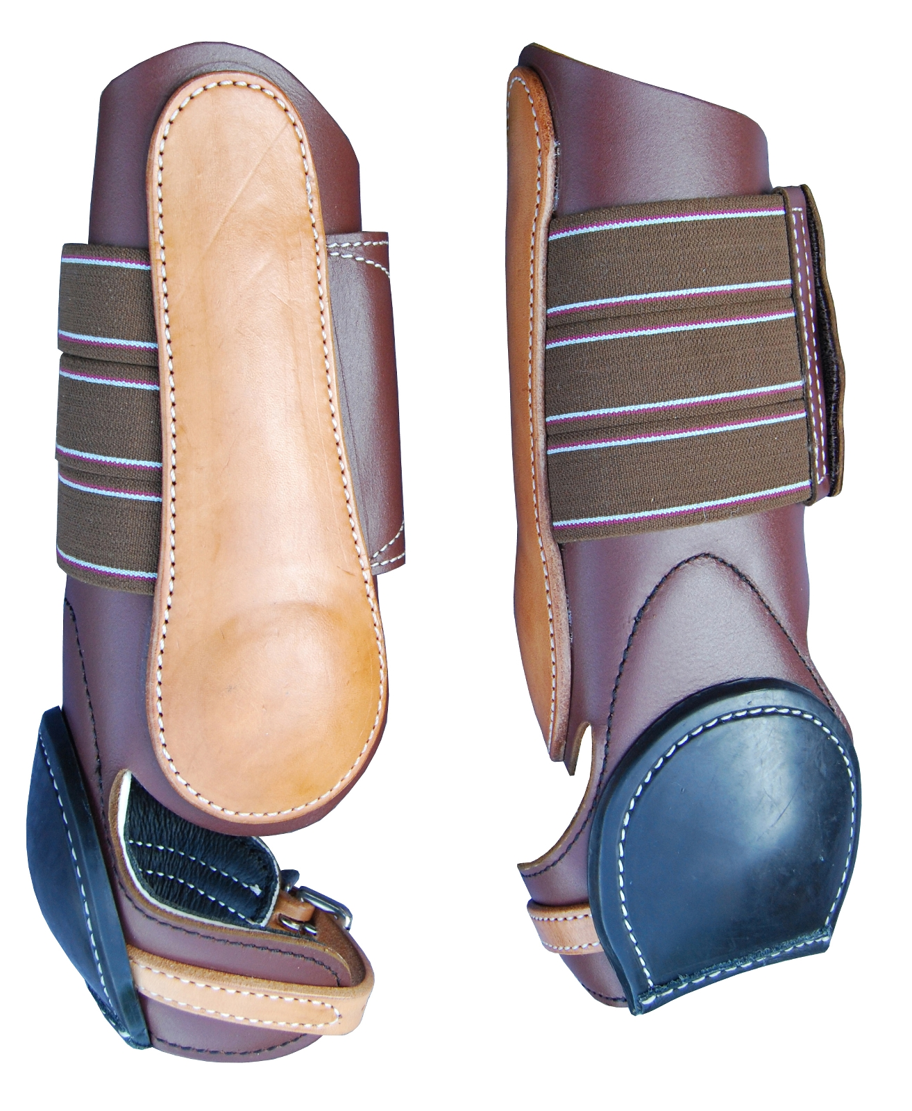Turn-Two Equine Western Leather Skid Boot
